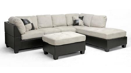 Wholesale Interiors IDS01ERBoneRFCSOFASET  Sofa and Chaise Fabric Sofa