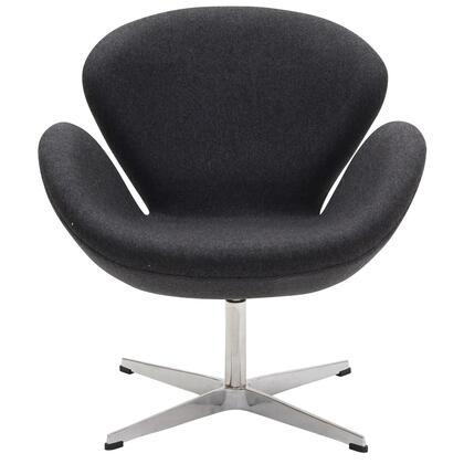 Modway EEI137DGR Wing Series Modern Fabric Metal Frame Accent Chair