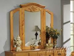 Acme Furniture 08393 Ponderosa Series Arched Tri-fold Mirror