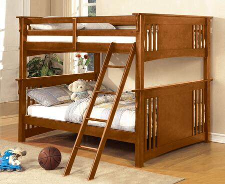 Furniture of America CMBK603OAKBED Spring Creek Series  Full Size Bunk Bed