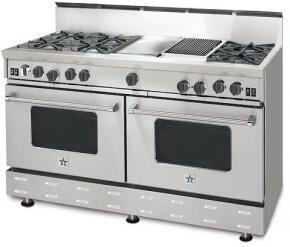 BlueStar RNB606CBSSLP RNB Series Gas Freestanding Range with Open Burner Cooktop, 4.5 cu. ft. Primary Oven Capacity, in Stainless Steel