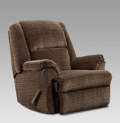 Chelsea Home Furniture 2600 Verona IV Chaise Rocker Recliner, with 1.8 Density Foam Cushion, Hardwood, Softwood and Engineered Wood Construction, and Fabric Upholstery
