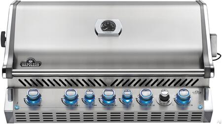 """Napoleon BIPRO665RBxSS-2 38"""" Prestige PRO 665 Series Built-In Grill with 5 Stainless Steel Bottom Burners, Smoker Burner, Smoker Tray Burner, 1 Infrared Rotisserie Burner, 1000 sq. in. Total Cooking Area, and Infrared Rear Burner, in Stainless Steel"""