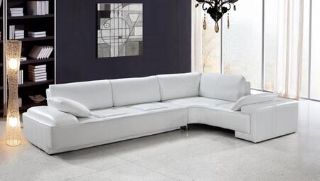 VIG Furniture VG2T0738  Sofa and Chaise Leather Sofa