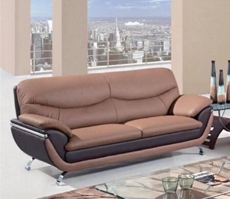 Global Furniture USA U2106S  Stationary Bonded Leather Sofa