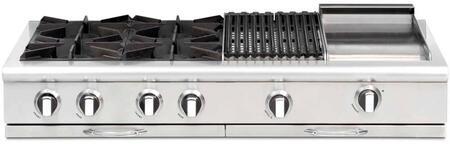 "Capital CGRT484BGN 48"" Culinarian Series Natural Gas Open Burner Style Cooktop"