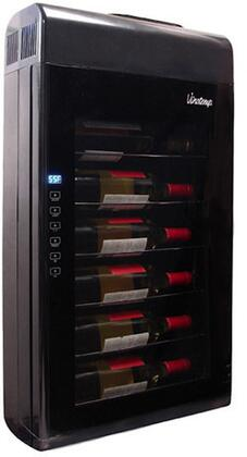 "Vinotemp VT-6TED-W Eco Series 17"" Wall-Mounted Wine Cooler with 6-Bottle Capacity, Thermoelectric Technology, Interior Light and Touch Screen Temperature Control"