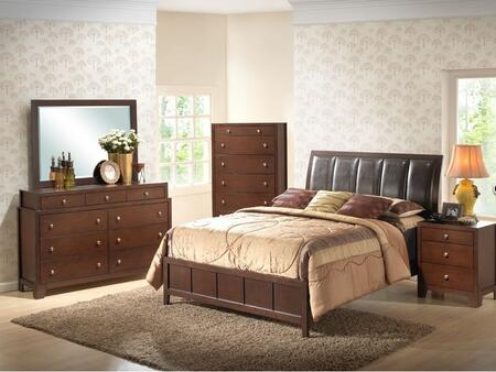 Wholesale Interiors IDB0195PCQUEENBEDSET 5 Piece Bedroom Set