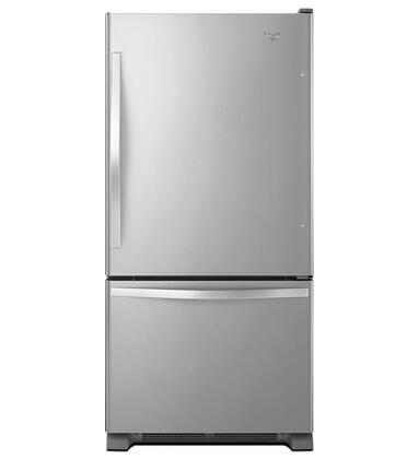 "Whirlpool WRB322DMBM 33""  Bottom Freezer Refrigerator with 22.1 cu.ft. Total Capacity 6.45 cu.ft. Freezer Capacity 5 Glass Shelves"