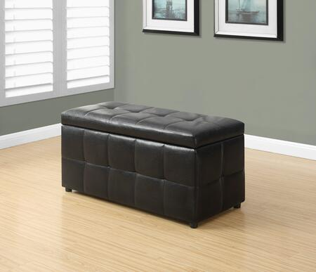 """Monarch I 898X 38"""" Ottoman with Storage Area, Hinged Top and Tufted Details in"""