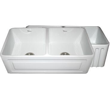 Whitehaus WHFLRPL3318BL Kitchen Sink