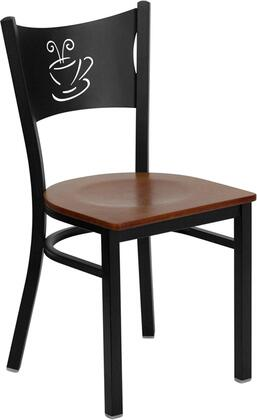 "Flash Furniture HERCULES Series XU-DG-60099-COF-XXW-GG 18"" Coffee Back Metal Restaurant Chair with Wood Seat, Commercial Design, 18 Gauge Steel Frame, and Plastic Floor Glides"