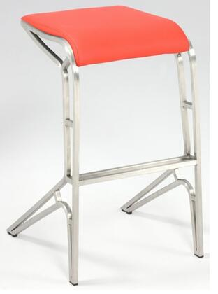 Chintaly 0568CSRED  Bar Stool