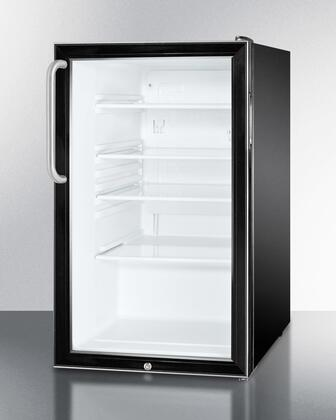 "Summit SCR500BL7TBADA 20""  Compact Refrigerator with 4.1 cu. ft. Capacity in Black"