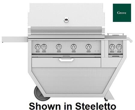 60 in. Deluxe Grill with Side Burner   Grove