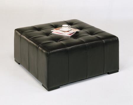 Armen Living LCMC0053BCBR Empire Series Contemporary Leather Ottoman
