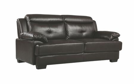 Glory Furniture G488S G480 Series Stationary Faux Leather Sofa