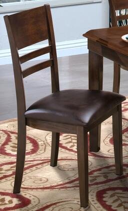 """New Classic Home Furnishings 40-150-22 Latitudes 19"""" Horizontal Slat Chair with Tapered Legs, Hardwood Solids and Veneers, in"""