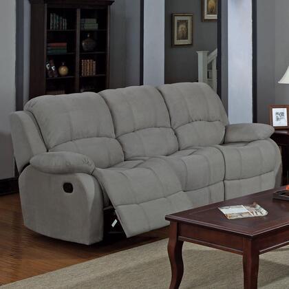 Coaster 600861 Reed Series Reclining Microfiber Sofa