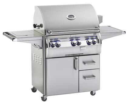 "FireMagic E660S4LXP71 Echelon 85.25"" Portable Grill with E-Burners, One Infrared Burner, Double Side Burner, Liquid Propane"
