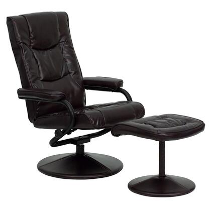 Flash Furniture BT7862BNGG Contemporary Bonded Leather Wood Frame  Recliners