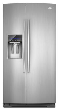 Whirlpool GSS26C4XXY  Monochromatic Stainless Steel Side by Side Refrigerator with 26.4 cu. ft. Capacity