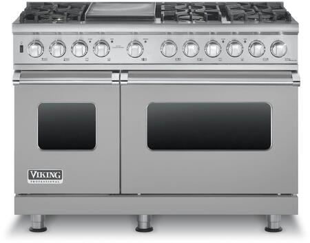 """Viking VDSC5486G 48"""" Professional 5 Series Dual Fuel Range with 6 Sealed Burners and Griddle, SureSpark Ignition System, TruConvec Convection Cooking and Gourmet-Glo Infrared Broiler, in"""