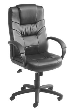 "Boss B75X 44"" High-Back Executive Chair with Padded Armrests, Passive Ergonomic Seating, Upright Locking Position, Pneumatic Gas Lift Seat Height Adjustment and Upholstered in Black Durable CaressoftPlus"