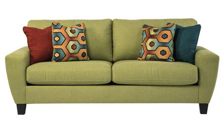 Signature Design by Ashley Sagen 9390X38 Sofa with 4 Toss Pillows, Uniquely Shaped Track Arms and Plush Loose Seat Cushions in