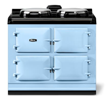 """AGA ATC3DEB 40"""" Total Control Series Slide-in Electric Range with Smoothtop Cooktop 1.5 cu. ft. Primary Oven Capacity"""