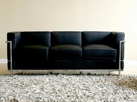 Wholesale Interiors 610SOFABLACK Le Corbusier Series  Sofa
