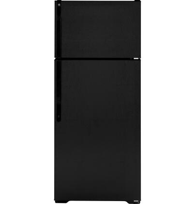 GE GTH18EBBBB Freestanding Top Freezer Refrigerator with 18.1 cu. ft. Total Capacity 3 Glass Shelves 4.22 cu. ft. Freezer Capacity