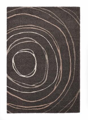 Citak Rugs 4740-050X Caledon Collection - Ripple - Dark Grey