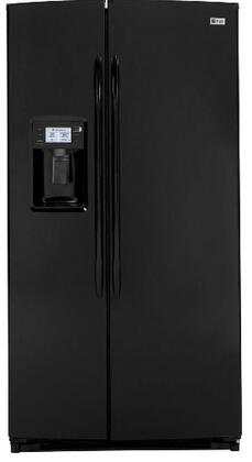 GE PSHF6YGZBB  Side by Side Refrigerator with 25.6 cu. ft. Capacity in Black