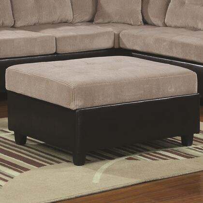 Coaster 503016 Henri Series Contemporary Faux Leather Ottoman