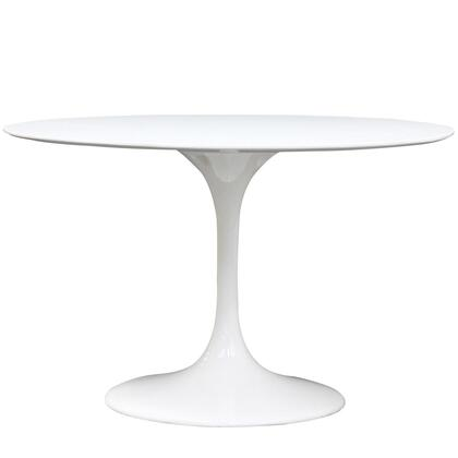 Modway EEI120WHI Lippa Series Modern Round 0 Drawers End Table