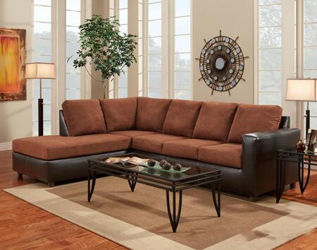 Chelsea Home Furniture 193650 Hartford 2 PC Sectional with Left Arm Facing Chaise, Right Arm Facing Sofa, Hi-Density Foam Cores and Fabric Upholstery in