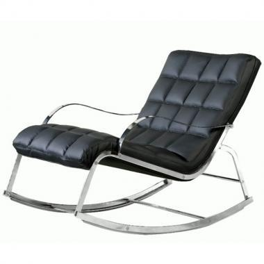 Chintaly CAMRYLNG Camry Series Contemporary Leather Chaise Lounge