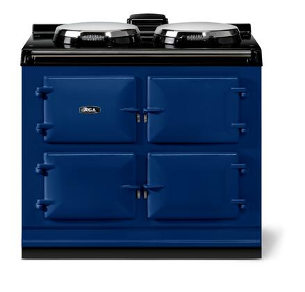 """AGA ATC3DBL 40"""" Total Control Series Slide-in Electric Range with Smoothtop Cooktop 1.5 cu. ft. Primary Oven Capacity"""