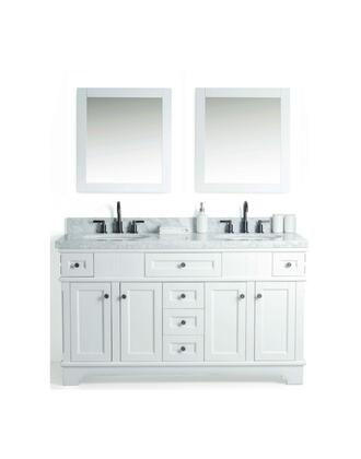 "Legion Furniture WS2060 60"" Solid Wood Sink Vanity With Mirror And Faucet"
