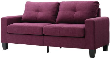 "Glory Furniture Newbury Collection 71"" Modular Sofa with Dacron Wrapped Foam, Encased Pocketed Coil Spring Seat Cushions, Tapered Legs and Twill Fabric Upholstery in"