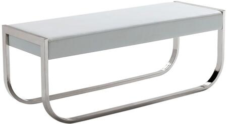 Casabianca CB3001WHBENCH Bellagio Series Accent Armless Metal Bench
