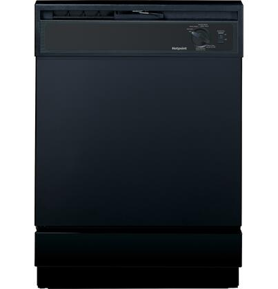 "Hotpoint HDA2100HBB 24"" Built In Full Console Dishwasher with 12 Place Settings Place Settingin Black"