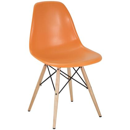 Modway EEI180ORA Pyramid Series Modern Not Upholstered Wood Frame Dining Room Chair