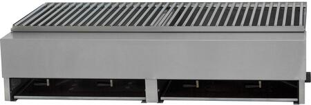 """Lazy Man A2TSX 32"""" Model A Series Gas Grill with 4 Stainless Steel Burners, 80000 BTU Total Heat Output, Drip Pan, and 304 Stainless Steel Construction, in Stainless Steel"""