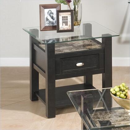 Jofran 9613 Transitional Square 1 Drawers End Table
