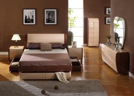 VIG Furniture VGDAFMAYAK5PCSET Modrest Maya E King Beds