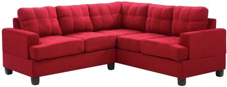 Glory Furniture G516BSC G510 Series Stationary Suede Sofa