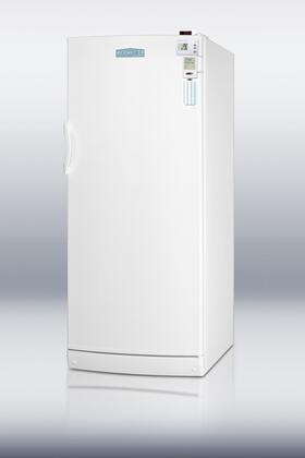 Summit FFAR10FC7MEDSC AccuCold Series Freestanding Counter Depth Apartment Refrigerator with 10.1 cu. ft. Capacity, 5 Wire ShelvesField Reversible Doors