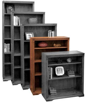 Legends Furniture SD6848RST Scottsdale Series Wood 3 Shelves Bookcase